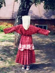 Одежда татар-кряшен. Ак калфак